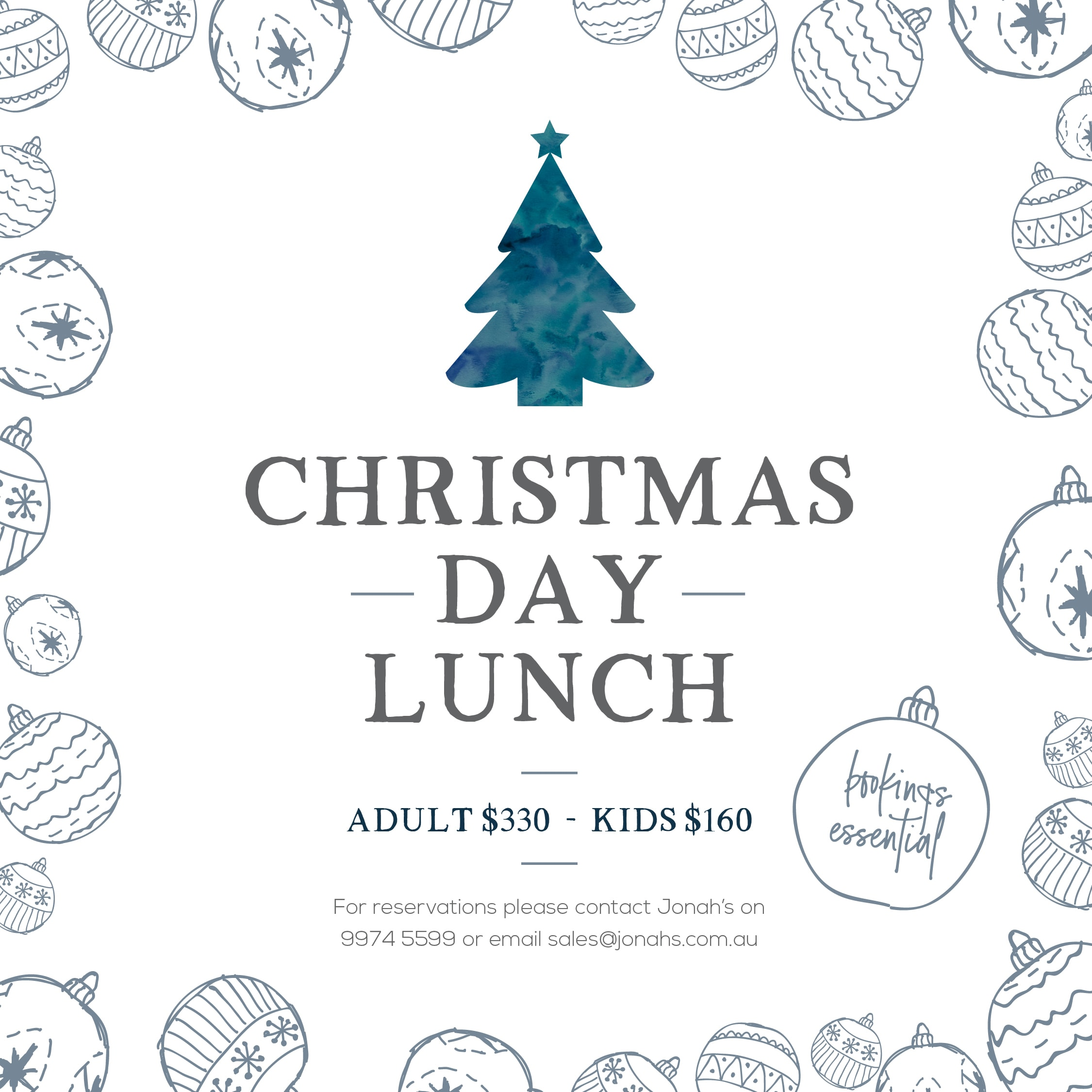 Jonah's, Jonahs, Whale Beach, Christmas, Christmas Lunch, Christmas Day Lunch 2018, Things to do for Christmas, Sydney, Northern Beaches, What's On, Palm Beach